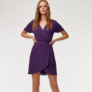 BNWT Aritzia Babaton Wallace Dress in purple